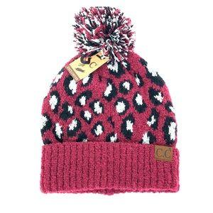 CC Leopard Beanie Boutique Hat New